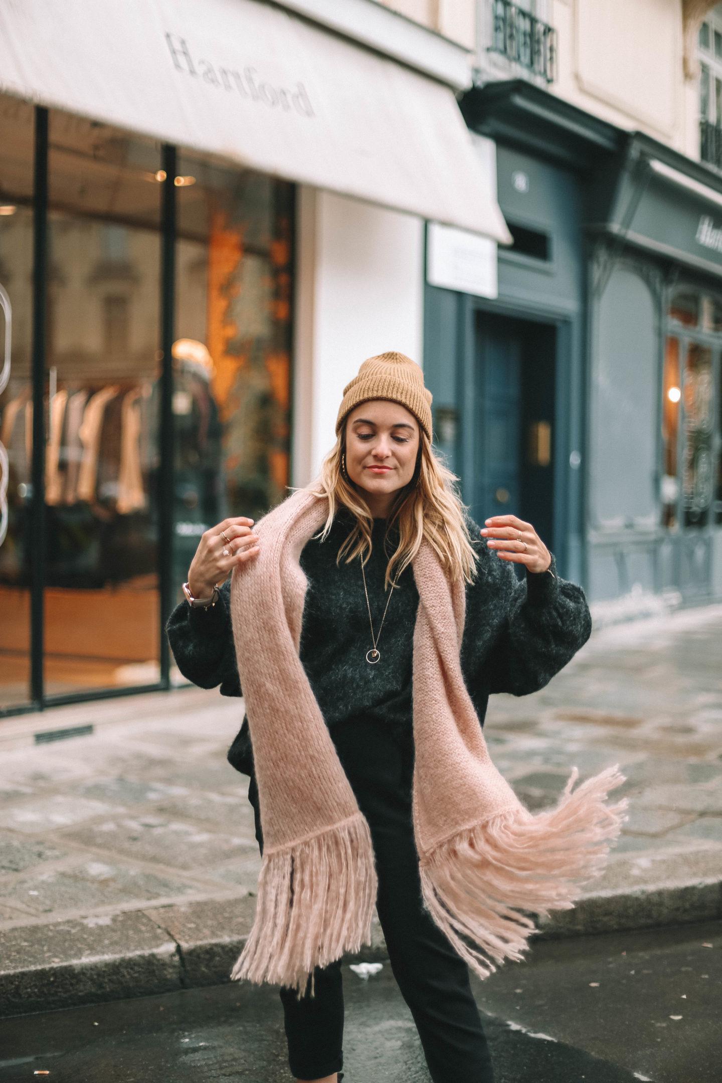 Echarpe Rose American Vintage - Blondie baby blog mode et voyages
