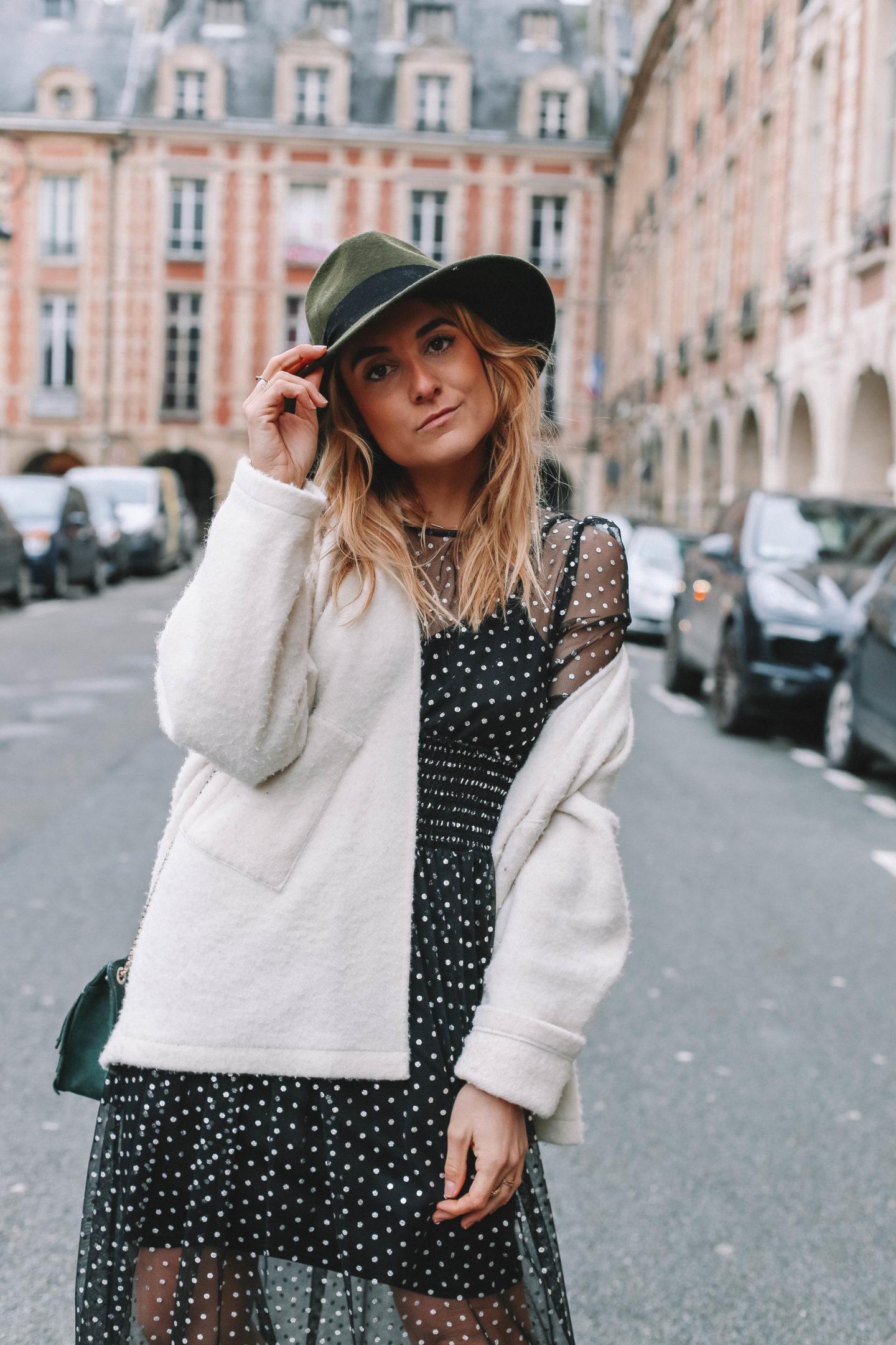 Robe noire à pois - Blondie Baby blog mode et voyages