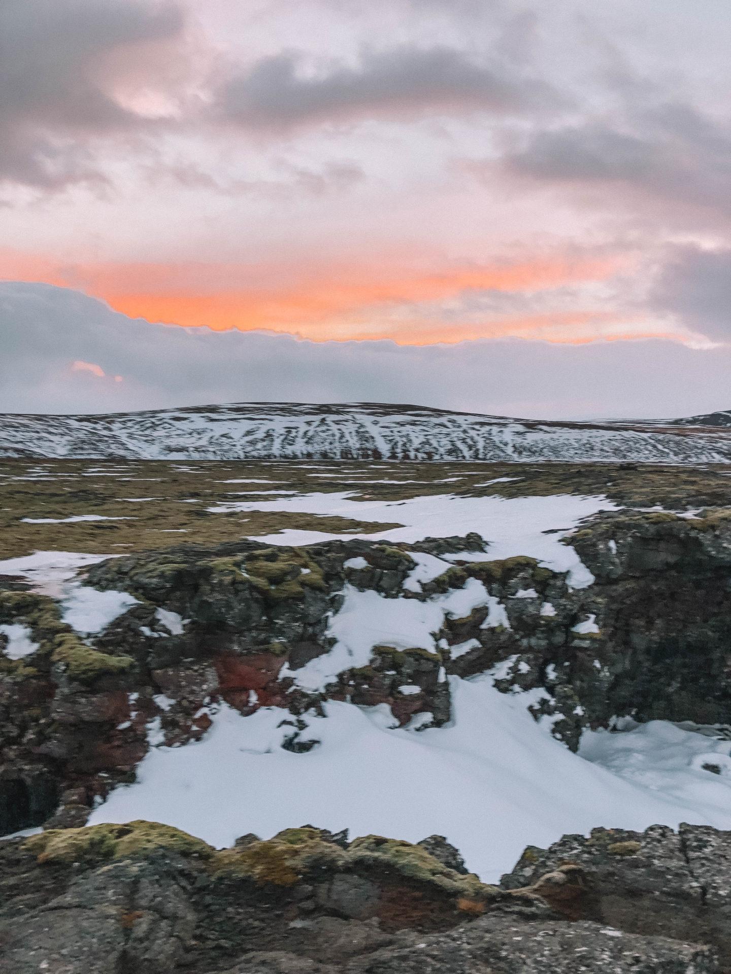 Coucher de soleil Islande - Blondie Baby blog mode et voyages