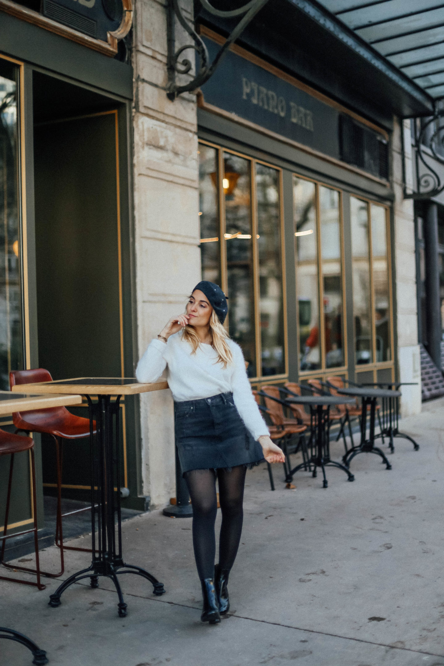 Béret gris perles Primark - Blondie Baby blog mode et voyages