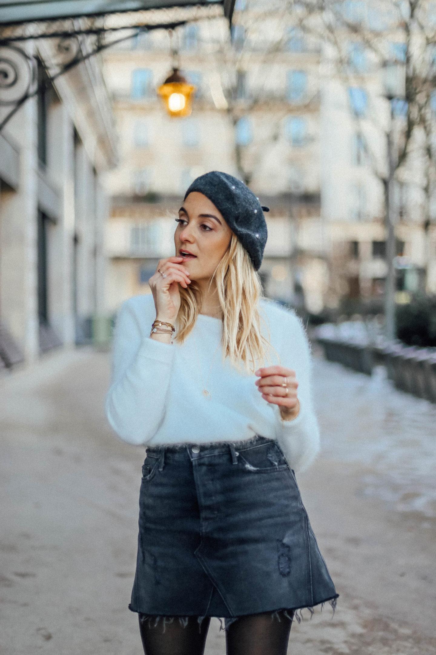 Jupe en denim noire - Blondie Baby blog mode et voyages