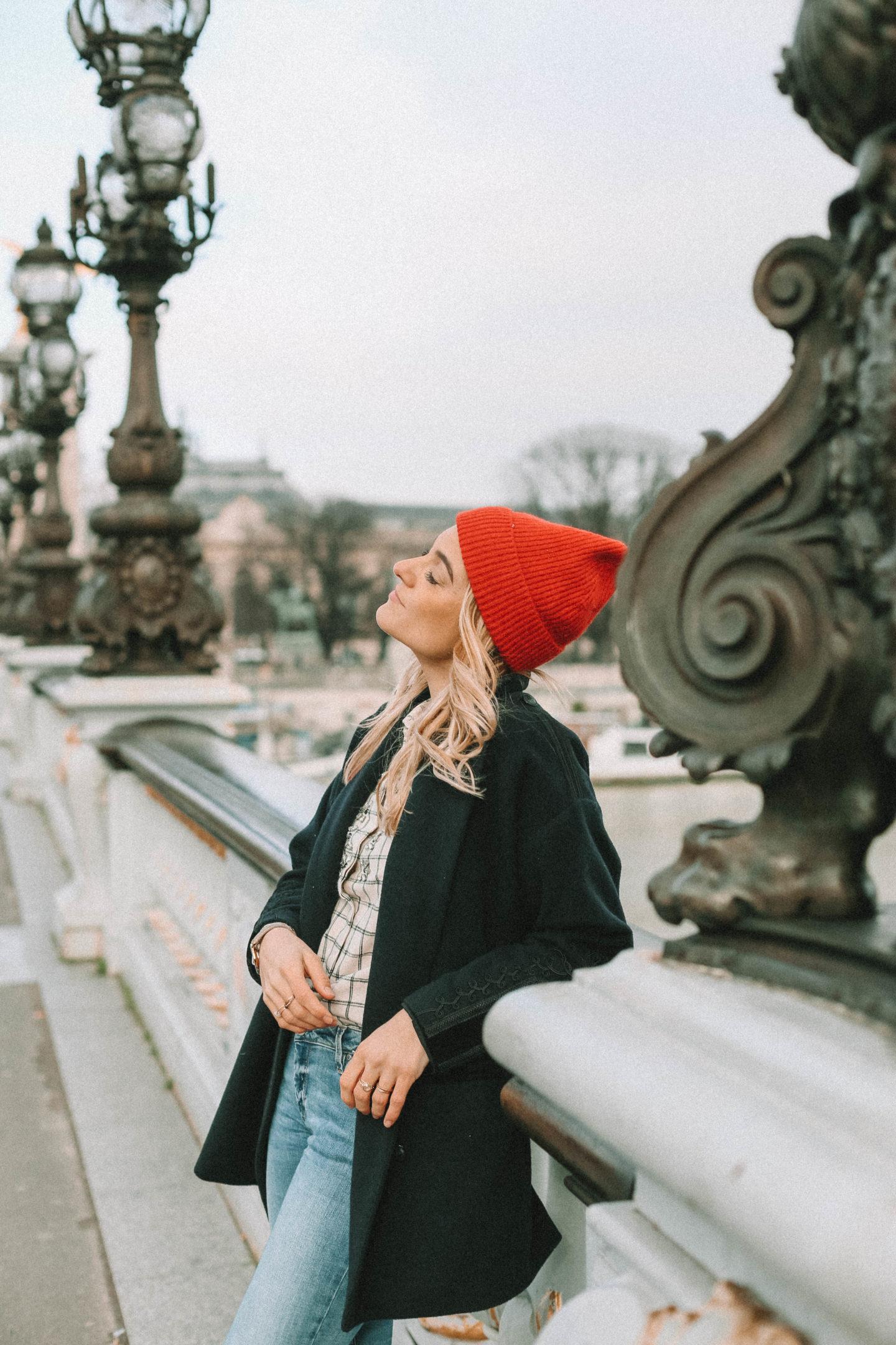 Bonnet rouge hm - Blondie Baby blog mode et voyages
