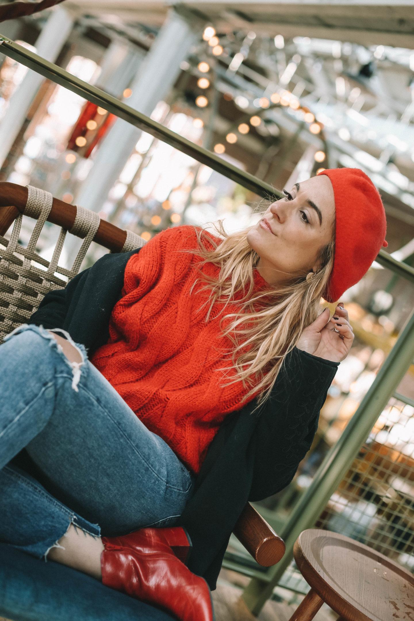 Look rouge - Blondie baby blog mode et voyages