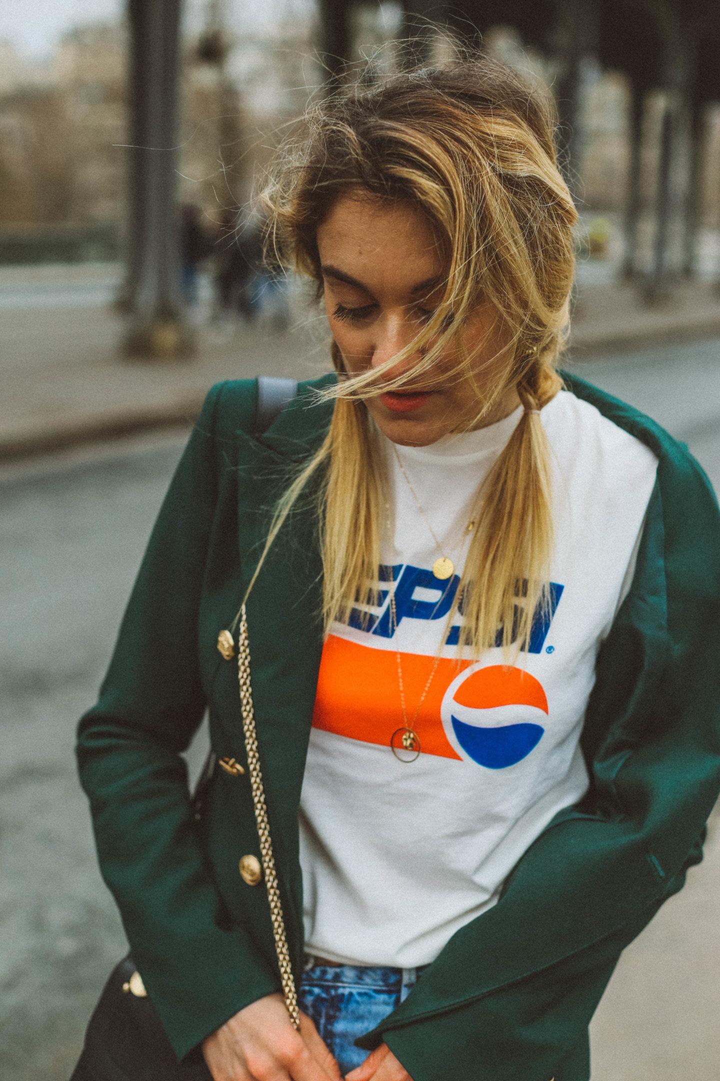 Blazer vert Loavies - Blondie Baby blog mode et voyages