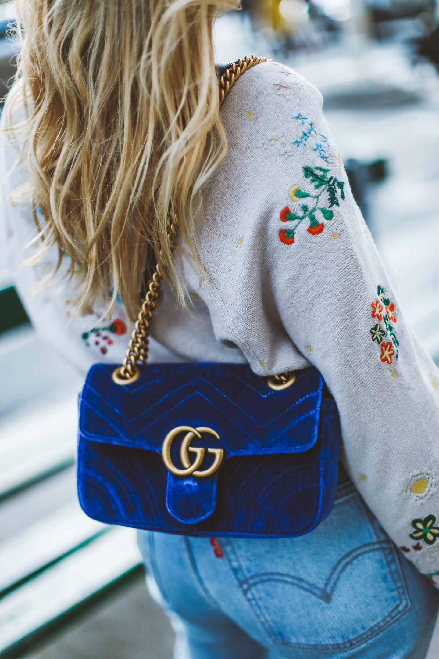 Sac Gucci velours - Blondie Baby blog mode et voyages