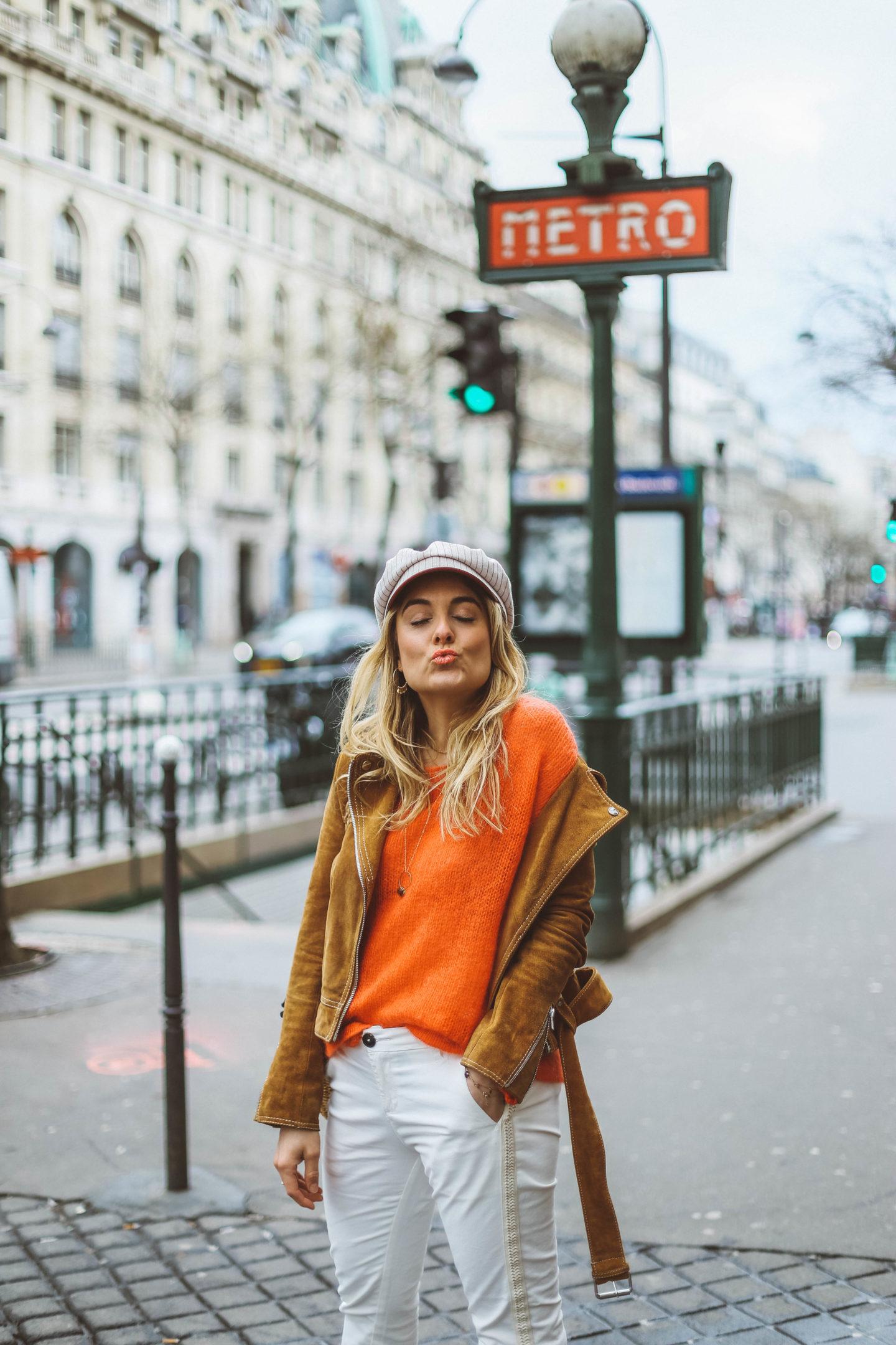 Veste en daim Claudie Pierlot - Blondie Baby blog mode et voyages
