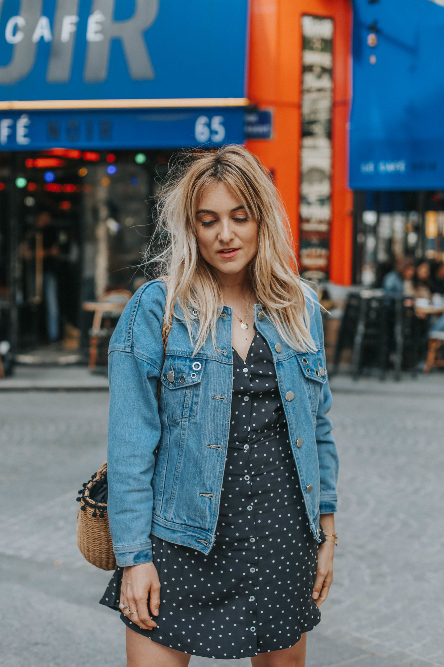 Veste en Jean - Blondie Baby blog mode Paris et voyages