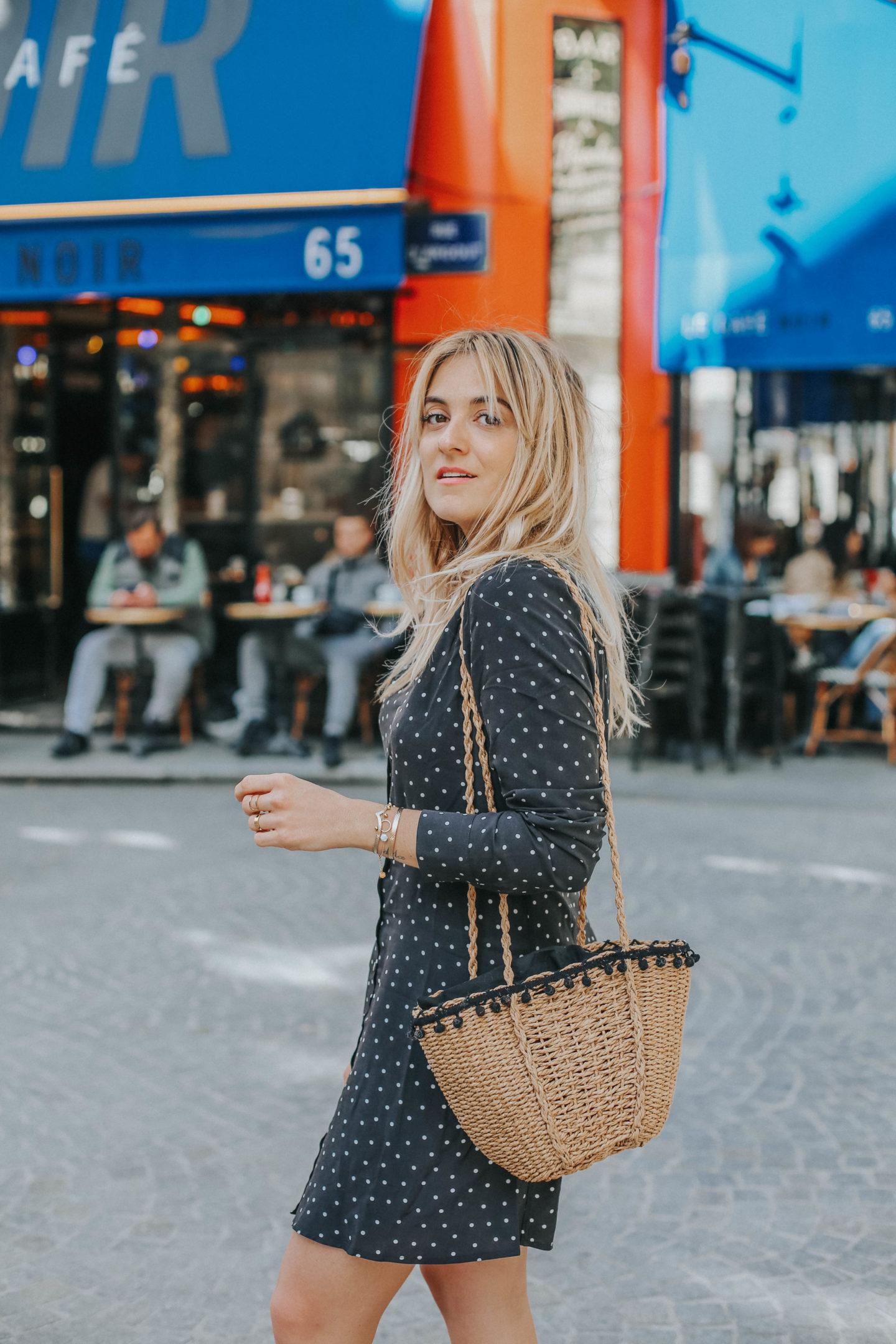 Robe noire à Pois - Blondie Baby blog mode Paris et voyages