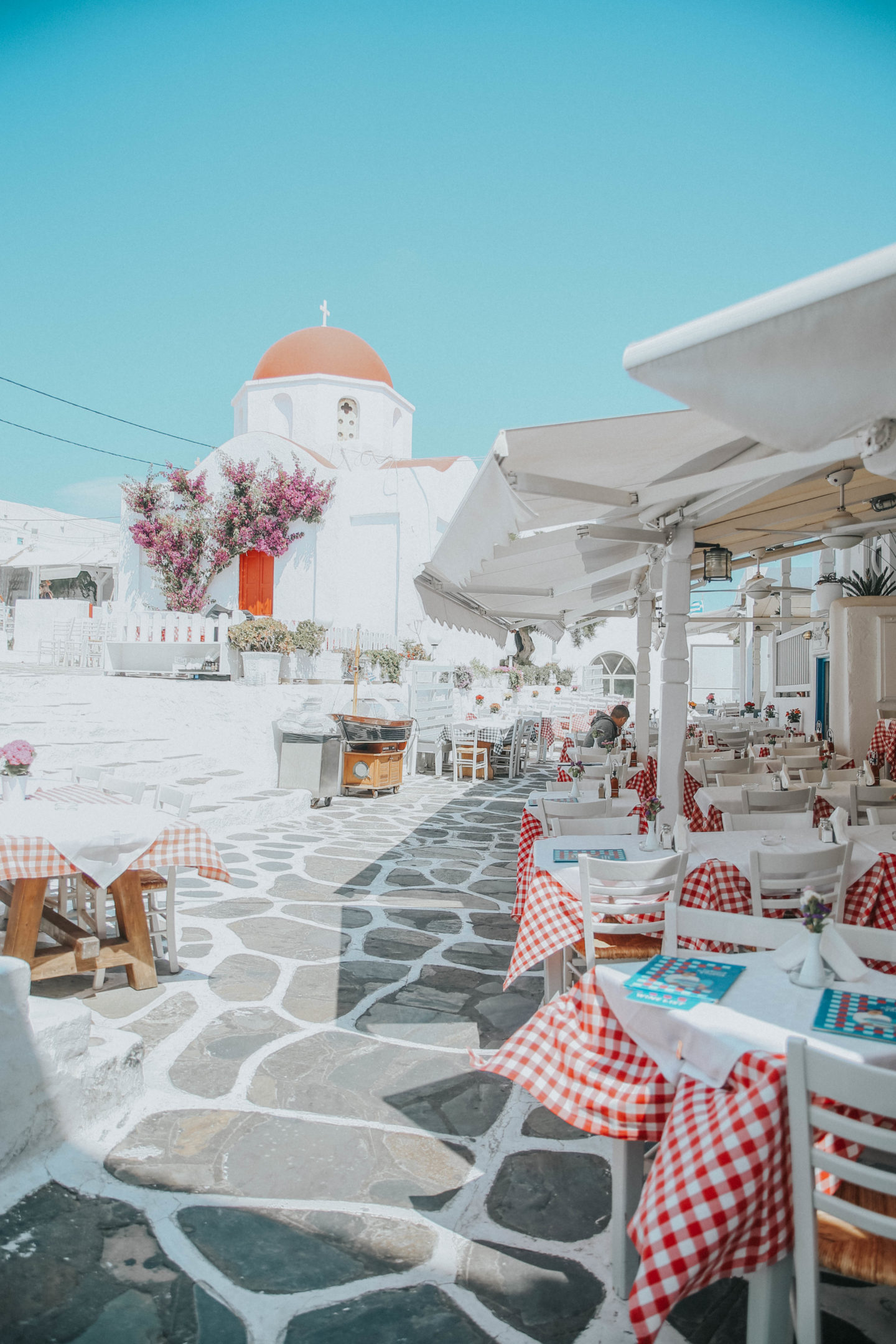 Taverne Mykonos - Blondie Baby blog mode et voyages