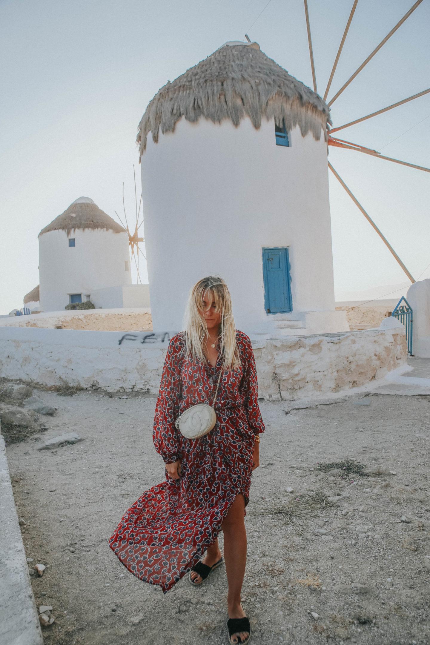Coucher de soleil Mykonos - Blondie Baby blog mode et voyages