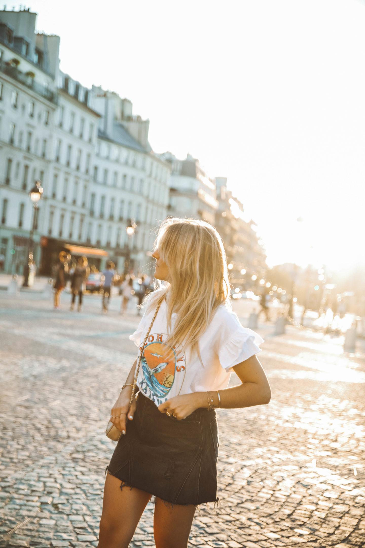 Jupe GRLFRND Denim - Blondie Baby blog mode Paris et voyages