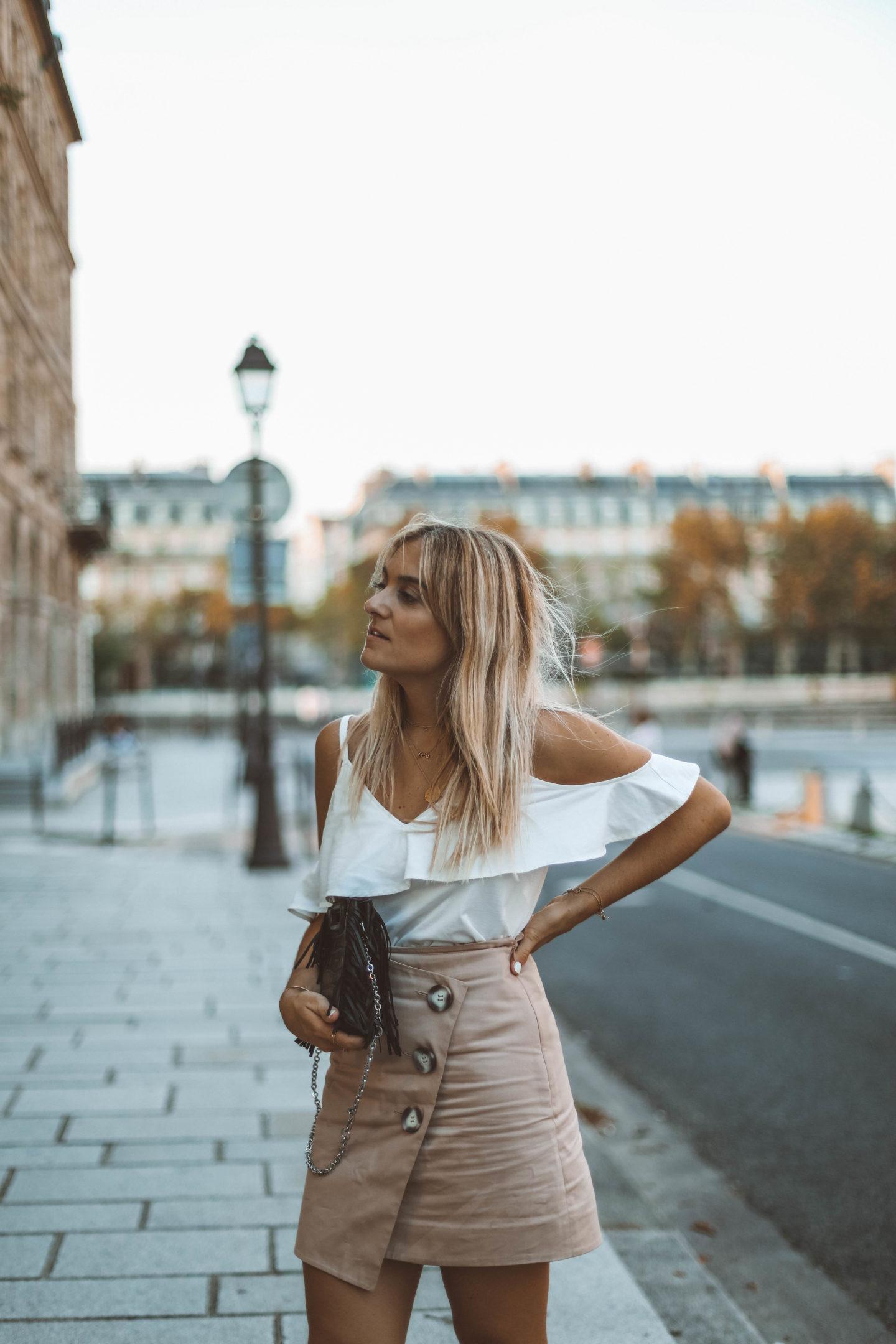 Top à volant - Blondie baby blog mode Paris et voyages