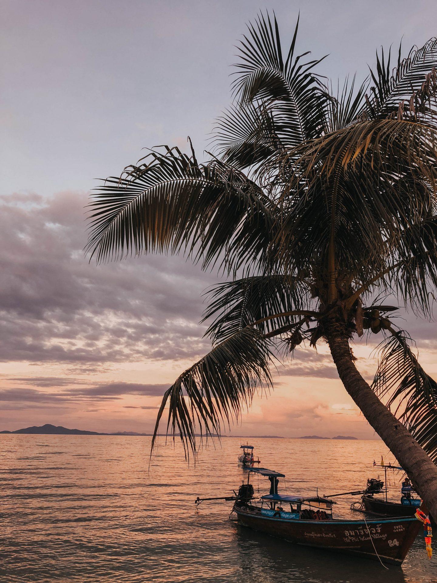 Ko Phi Phi sunset - Blondie Baby blog mode et voyages