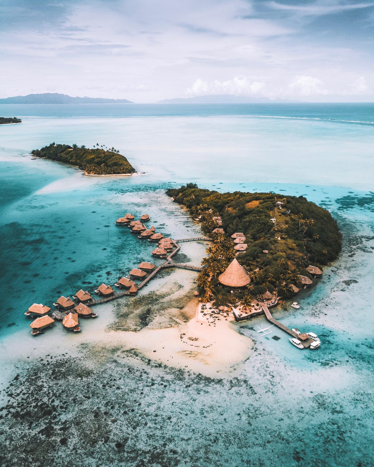 Drone Bora Bora - Blondie Baby blog voyages et mode