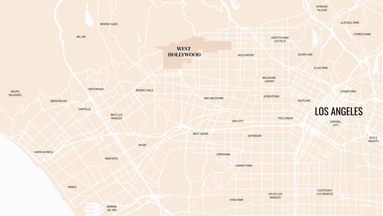 Carte West Hollywood - Blondie Baby blog voyages