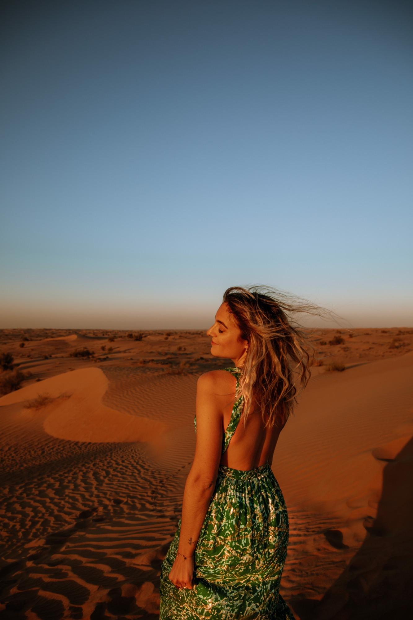 Coucher de soleil dans le désert Dubaï - Blondie Baby blog voyages