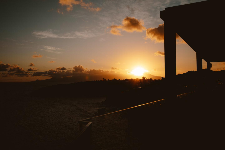 Coucher de soleil à La Toubana Guadeloupe - Blondie Baby blog voyages